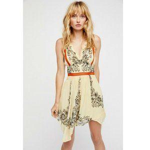 Free People Sweet Lila Printed Halter Dress XS US